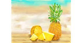 Pineapple drawing by Abbie