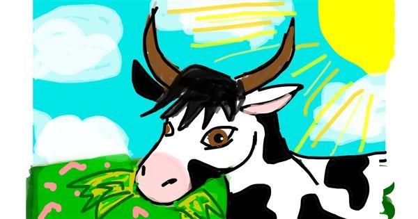 Cow drawing by Nina🍎