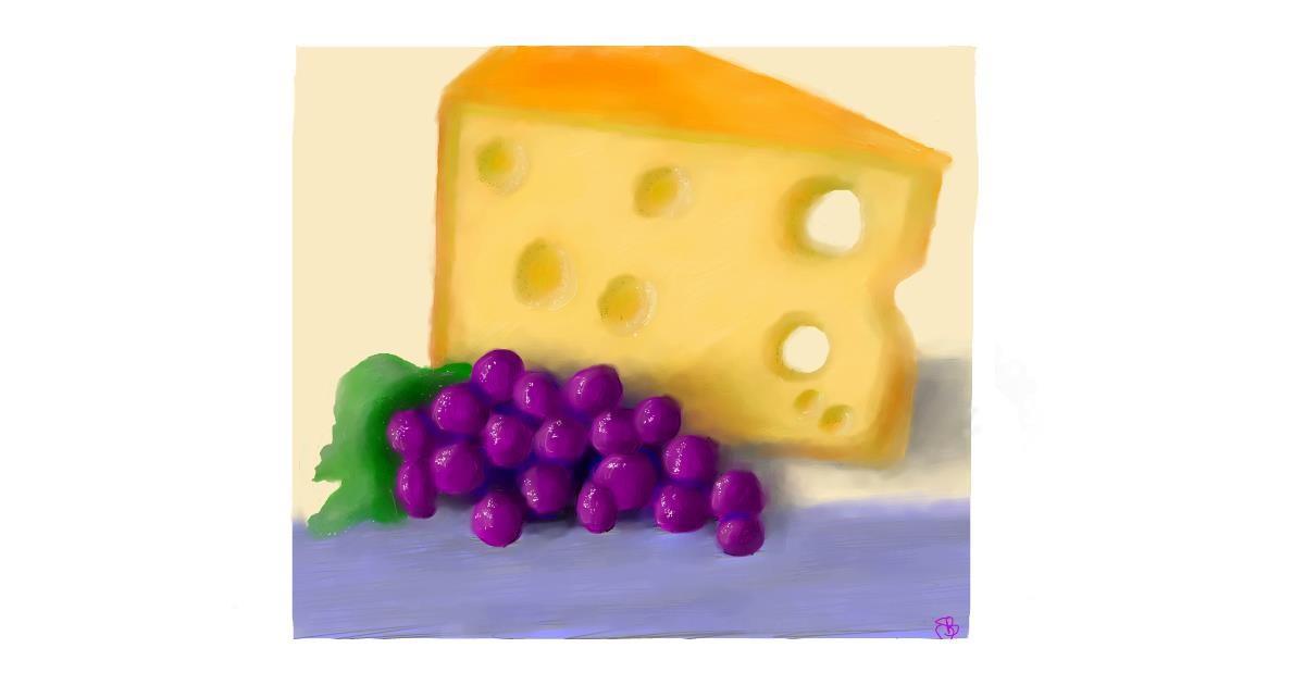 Drawing of Cheese by Sara