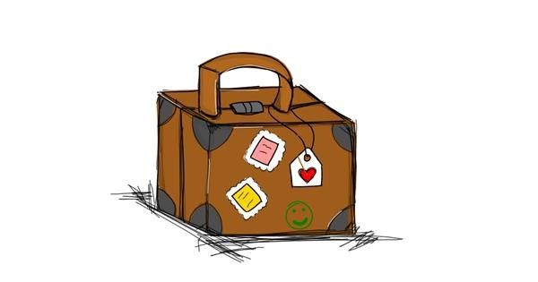 Suitcase drawing by Jennifreis
