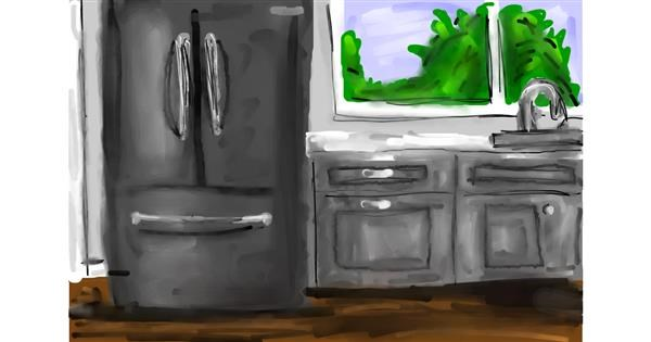 Refrigerator drawing by Soaring Sunshine