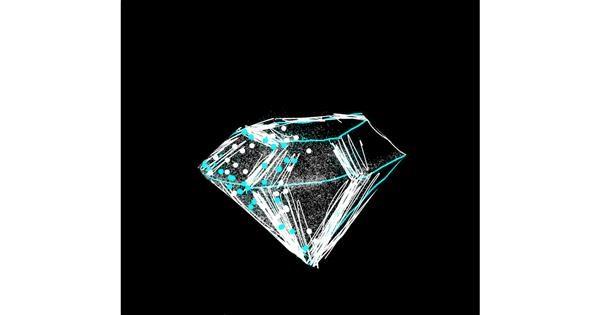 Diamond drawing by Bellaneona