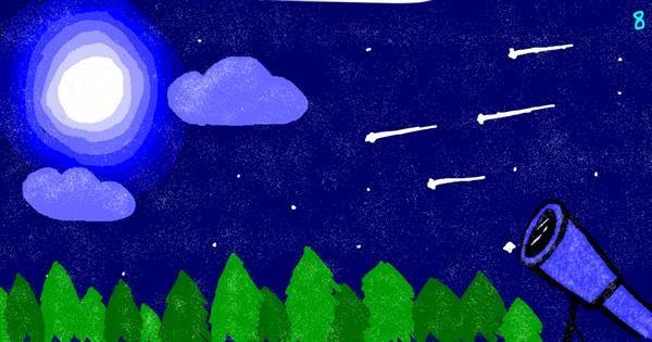 Telescope drawing by saRA