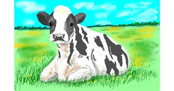 Cow drawing by GJP