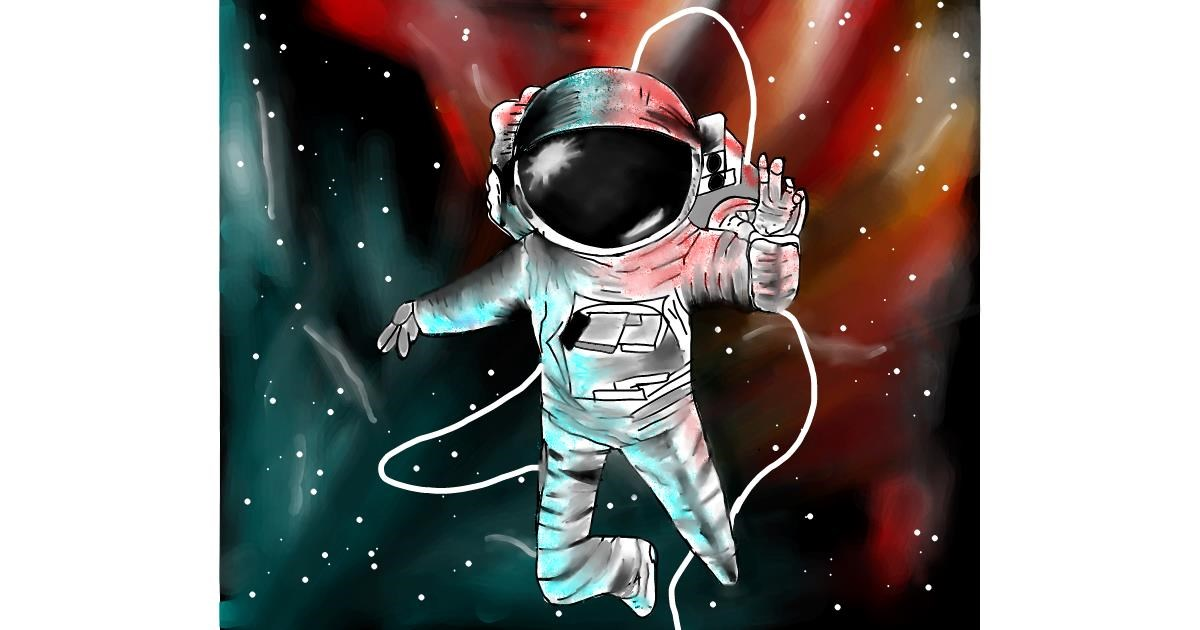 Astronaut drawing by irza