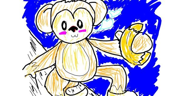 Monkey drawing by That One Llama