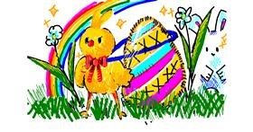 Easter chick drawing by kika