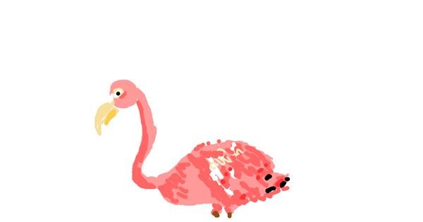 Flamingo drawing by San