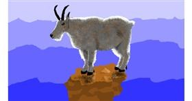 Goat drawing by Sam