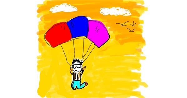 Parachute drawing by Lsk