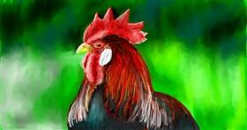Drawing of Rooster by Soaring Sunshine