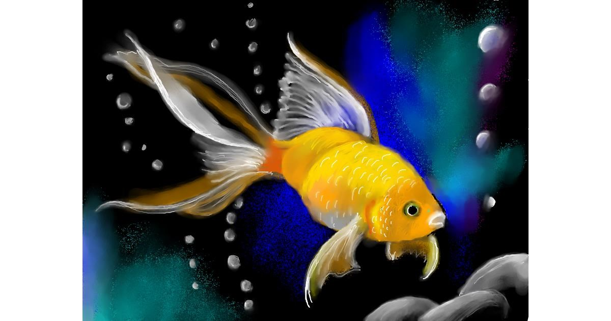Goldfish drawing by PrettyPixels