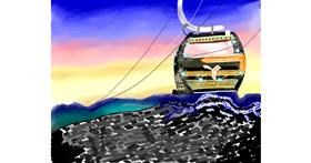 Cable car drawing by Yashi 🐢