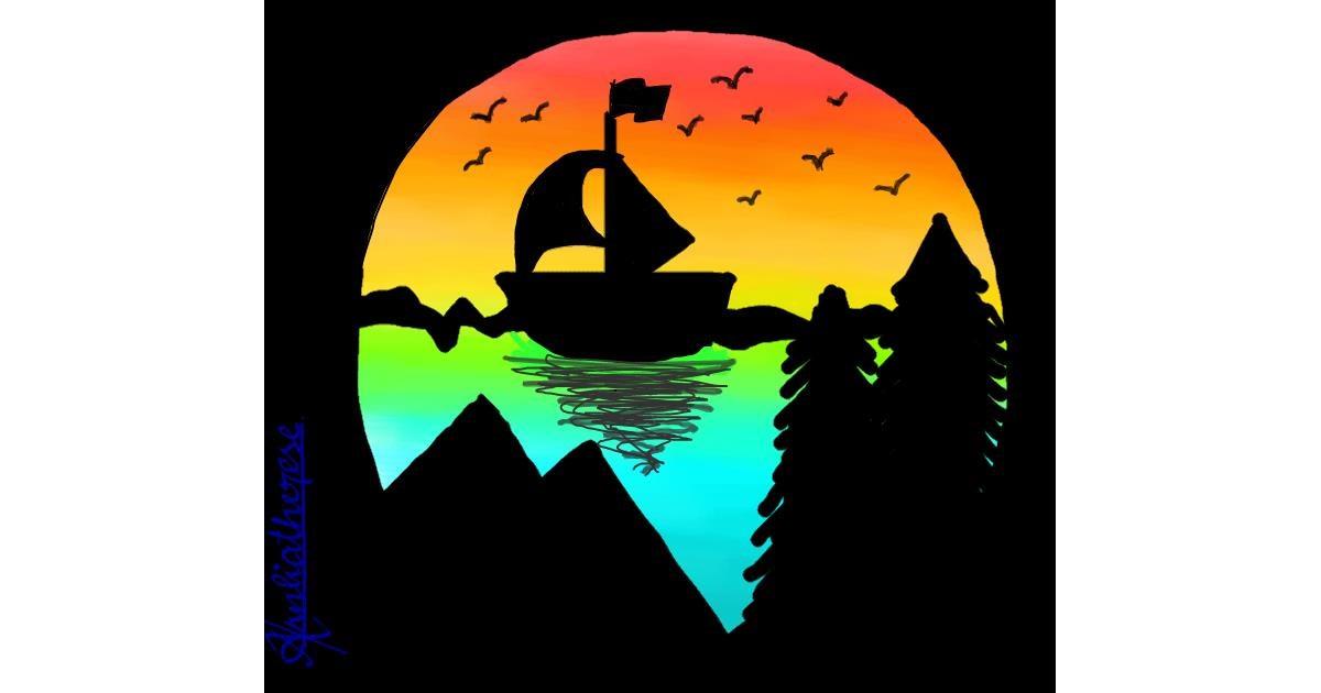 Boat drawing by Hardyboys007