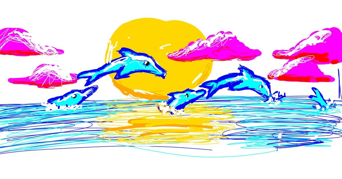 Dolphin drawing by boolaboo