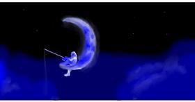 Drawing of Moon by leonardo de vinci