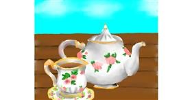 Teapot drawing by Autumn