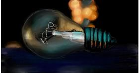 Drawing of Light bulb by Soaring Sunshine