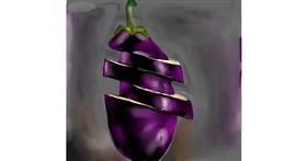 Eggplant drawing by Rose rocket