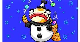 Drawing of Clownfish by Just_shin