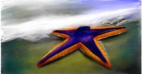Drawing of Starfish by Soaring Sunshine