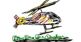 Helicopter drawing by BlubBlub