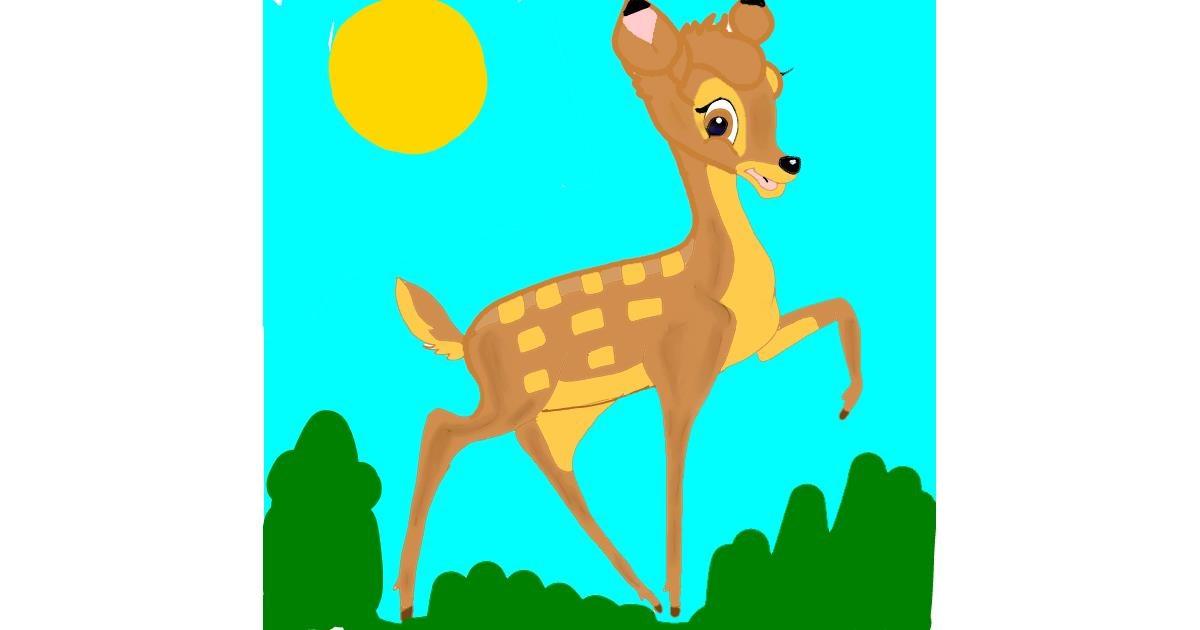 Drawing of Bambi by Rahi