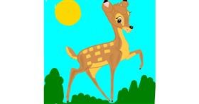 Bambi drawing by Rahi