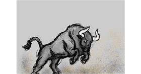 Drawing of Bull by Dada