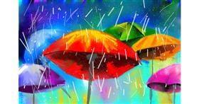 Drawing of Umbrella by Rak