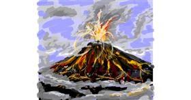 Drawing of Volcano by shinkinoko