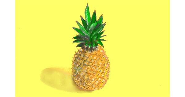 Pineapple drawing by GJP