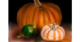 Drawing of Pumpkin by Wizard