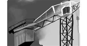 Drawing of Crane (machine) by Rose rocket