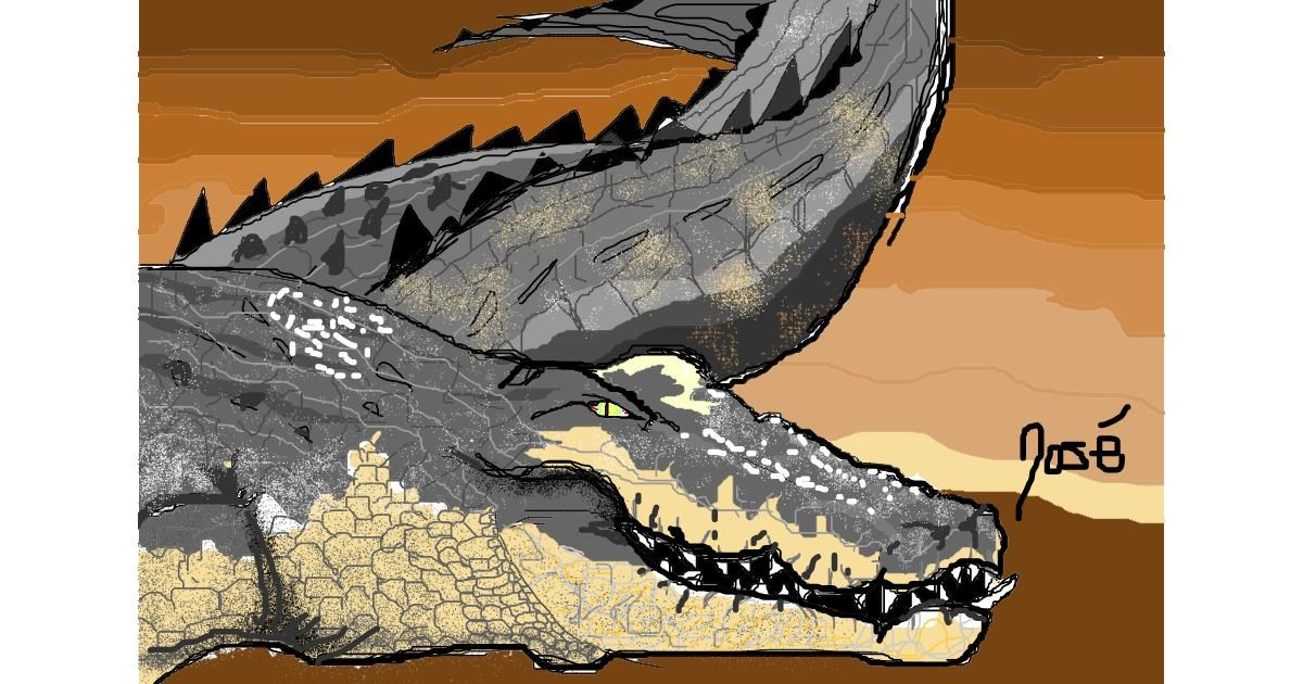 Alligator drawing by Josegreas