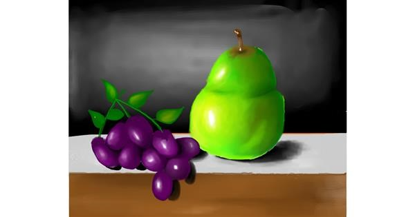Pear drawing by Mitzi