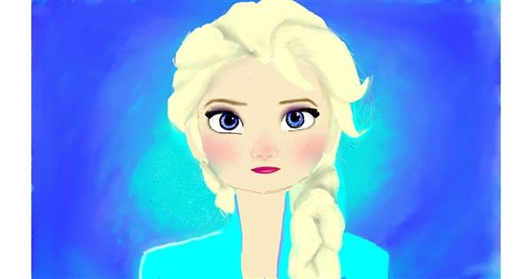 Elsa (Disney) drawing by tRay