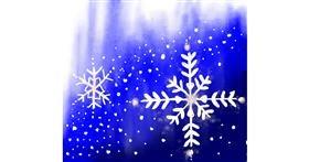 Snowflake drawing by JSim