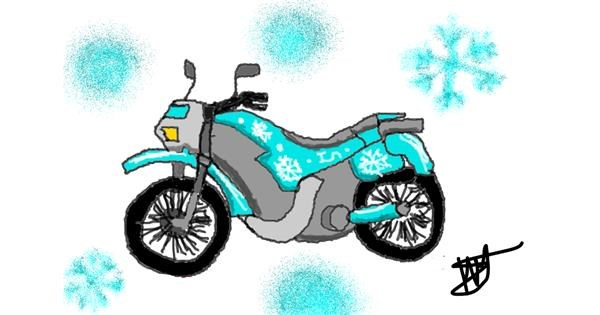 Motorbike drawing by Ingrid