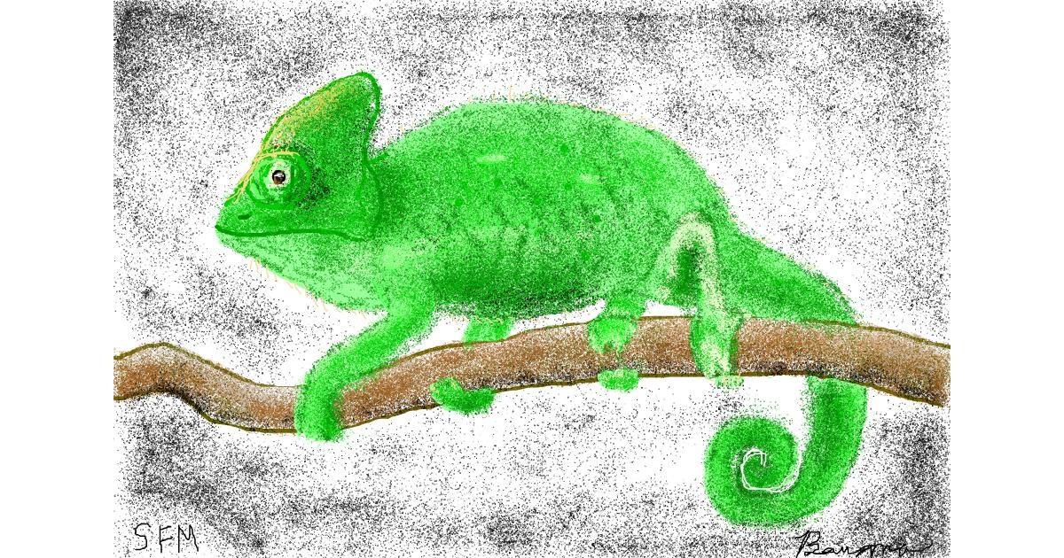 Chameleon drawing by Banana