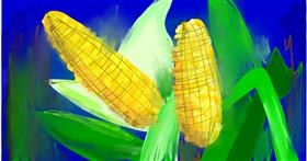 Drawing of Corn by Ryu