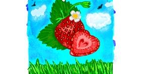 Strawberry drawing by Mercy