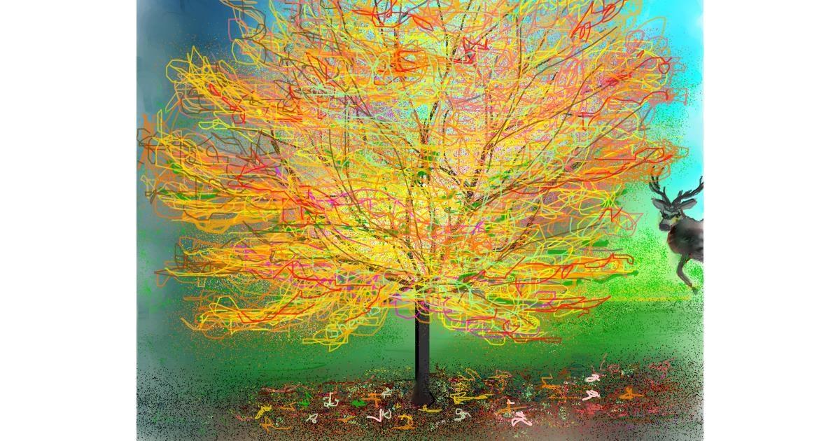Tree drawing by Kai 🐾