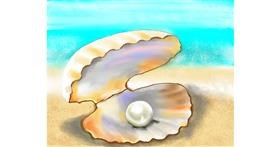 Seashell drawing by Cec