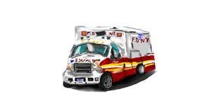 Drawing of Ambulance by Effulgent Emerald