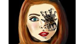 Spider drawing by RadiouChka