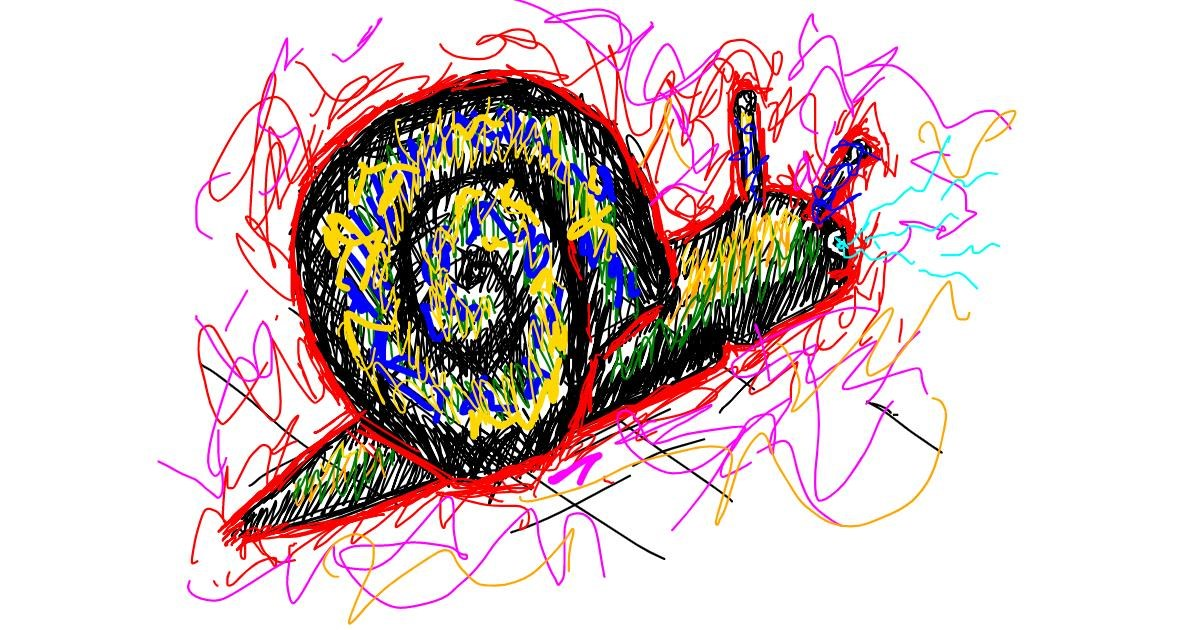 Snail drawing by Jeezits