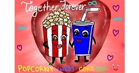 Drawing of Popcorn by Lollipop🍭