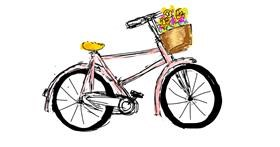 Bicycle drawing by Lsk
