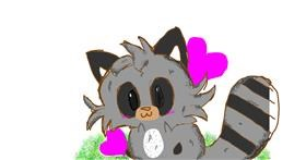 Raccoon drawing by kelly
